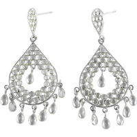 Franqipani Queen ! Crystal 925 Sterling Silver Earrings