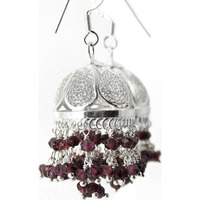 Huge Modern Style ! Ruby 925 Sterling Silver Earrings