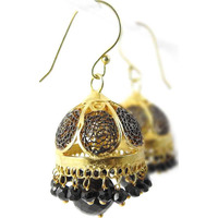 Modern Style ! Black Onyx 925 Sterling Silver Earrings