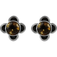 Big New Awesome! Citrine 925 Sterling Silver Earrings
