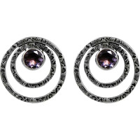Blooming Garden! Amethyst 925 Sterling Silver Earrings