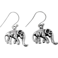 Paradise Bloom!! 925 Sterling Silver Elephant Earrings