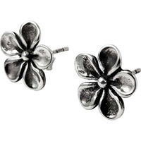 925 Sterling Silver Flower Design Earrings