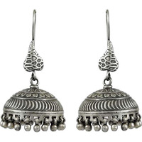Oxidized! 925 Sterling Silver Jhumki Earrings
