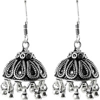 Stunning Natural Rich ! Jhumki 925 Sterling Silver Earrings