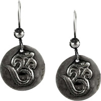 Large Fashion ! 925 Sterling Silver OM Earrings