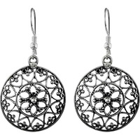 Delicate Light Filigree !! 925 Sterling Silver Earrings