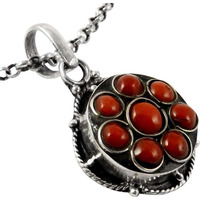 Summer Stock!! Coral 925 Sterling Silver Pendant