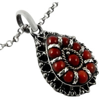 Very Delicate!! Coral 925 Sterling Silver Pendant