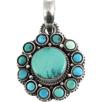 Deluxe! Turquoise 925 Sterling Silver Pendants