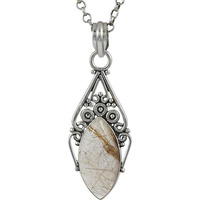 Gorgeous Design !! 925 Sterling Silver Golden Rutile Pendant