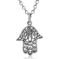 Awesome !! 925 Sterling Silver Hamsa Pendant