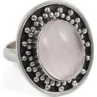 Stunning ! 925 Sterling Silver Rose Quartz Ring