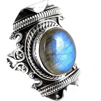 Passionate Love! Labradorite 925 Sterling Silver Rings