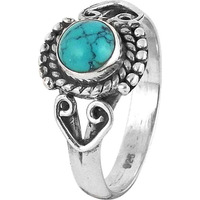 Tropical Glow! 925 Silver Turquoise Ring