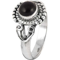 Lavender Dreams! 925 Silver Black Onyx Ring