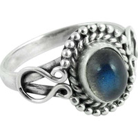 New Faceted! 925 Silver Labradorite Ring