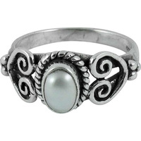 Stylish Design! 925 Silver Pearl Ring