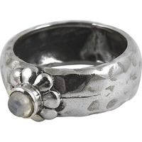 Great Creation! 925 Silver Rainbow Moon Stone Ring
