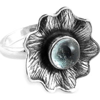 Stylish Design! 925 Silver Aquamarine Ring