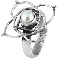 Big Secret Created ! 925 Silver Pearl Ring