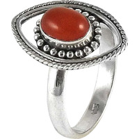 Draditions!! Carnelian 925 Sterling Silver Rings