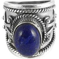 Royal Style!! Lapis 925 Sterling Silver Rings