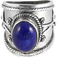 High Work Quality!! Lapis 925 Sterling Silver Rings