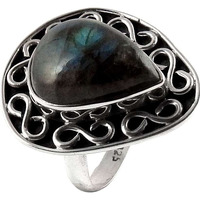 My Sweet!! 925 Silver Labradorite Gemstone Ring