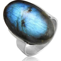 Fabulous ! 925 Sterling Silver Blue Labradorite Ring