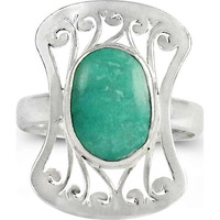 Passionate Love ! 925 Sterling Silver Green Onyx Ring