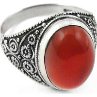 Attractive!! Carnelian 925 Sterling Silver Ring