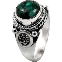 New Fashion!! Turquoise 925 Sterling Silver Ring