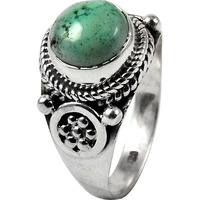 Big Secret Created!! Turquoise 925 Sterling Silver Ring