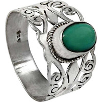 Modern Style ! 925 Sterling Silver Turquoise Ring