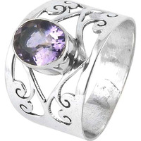 Big Falling In Love !! Amethyst 925 Sterling Silver Ring