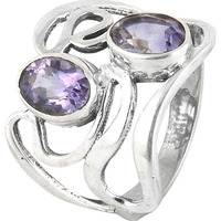 California Style !! Amethyst 925 Sterling Silver Ring