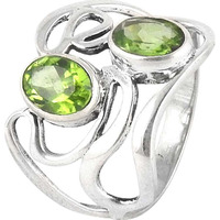 Cute! Peridot 925 Sterling Silver Rings