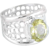 Ivy Precious !! Citrine 925 Sterling Silver Ring