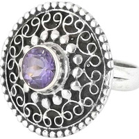 Daisy Moss! Amethyst 925 Sterling Silver Rings