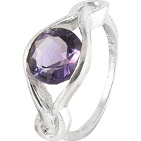 Big Excellent! Amethyst 925 Sterling Silver Ring