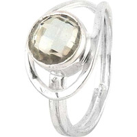 Hot! Green Amethyst 925 Sterling Silver Rings