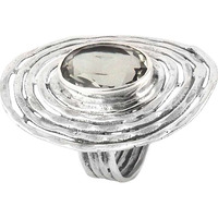 Paradise Bloom !! Green Amethyst 925 Sterling Silver Ring