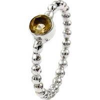 Dainty Daisy! Citrine 925 Sterling Silver Ring