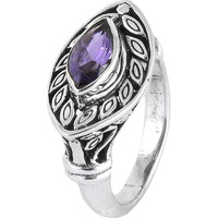 Stunning Natural Rich! Amethyst 925 Sterling Silver Ring