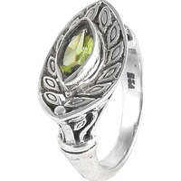 Cloud Song!! Peridot 925 Sterling Silver Ring