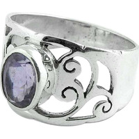 New Fashion Design! Amethyst 925 Sterling Silver Ring
