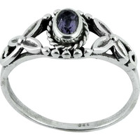 Natural Beauty!! Amethyst 925 Sterling Silver Ring