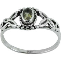 Large Fashion! Citrine 925 Sterling Silver Ring