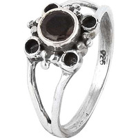 Large Fashion!! Garnet 925 Sterling Silver Ring
